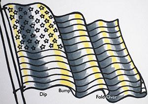 Copic Fabric Folds Photo 1