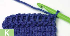 Tunisian Purl Stitch