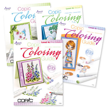Copic Coloring Guide, Copic Coloring Guide Level 2: Nature, Copic Coloring Guide Level 3: People and Copic Coloring Guide Level 4: Fine Details