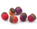 Wool Bead Acorns