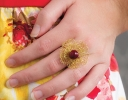 Golden Petals Ring