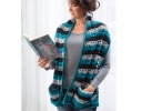 Textured Stripes Reader's Wrap