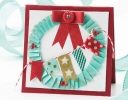 Washi Tape Wreath Card