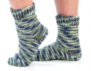Self- Striping Toe-Up Socks