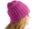 Raspberry Picot Hat