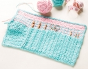Crochet Case With Ranunculus