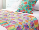 Flying Star Pinwheel Bed Runner & Pillow
