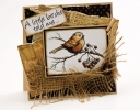 Monochromatic Little Birdie Card