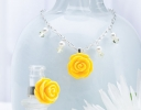 Yellow Rose Necklace & Ring