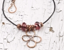 Handcrafted Wire Pendant, Hook Clasp & Cording Findings
