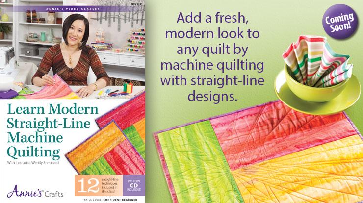 Learn Modern Straight-Line Machine Quilting Class DVD