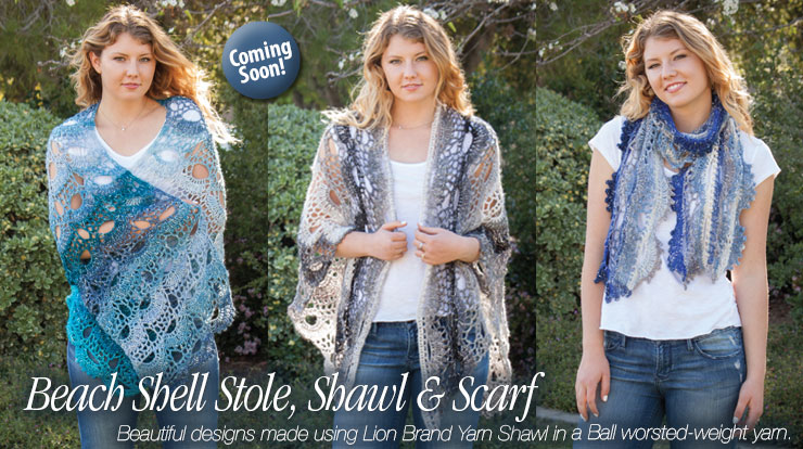 Shell Beach Stole and Shawl