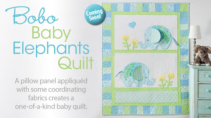 Exclusively Annie's Bobo Baby Elephants Quilt Pattern