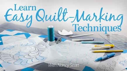 Learn Easy Quilt-Marking Techniques