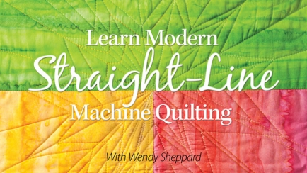 Learn Modern Straight-Line Machine Quilting