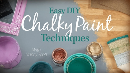 Easy DIY Chalky Paint Techniques