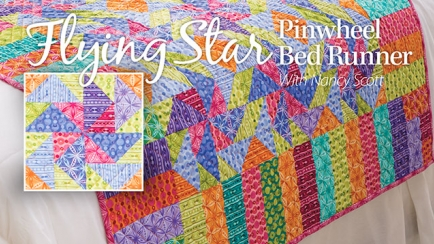 Flying Star Pinwheel Bed Runner