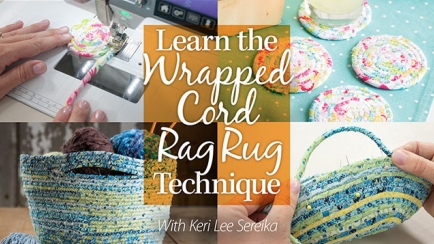 Learn the Wrapped Cord Rag Rug Technique