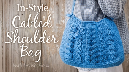 In-Style Cabled Shoulder Bag