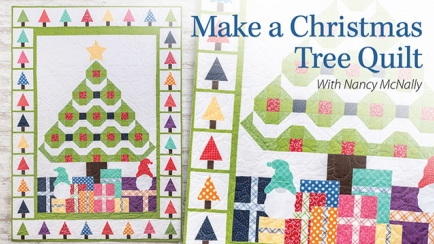 Learn to Make a Christmas Tree Quilt