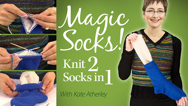 Online Classes: Magic Socks - Knit 2 Socks in 1