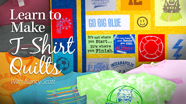 Online Classes: Learn to Make T-Shirt Quilts