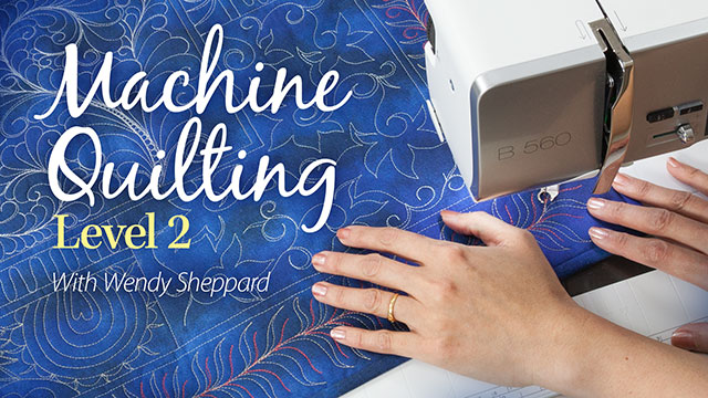 Machine Quilting Level 2 video