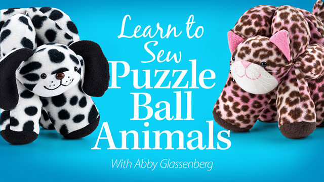 Learn to Sew Puzzle Ball Animals video