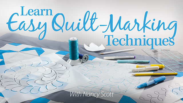 Online Classes: Learn Easy Quilt-Marking Techniques