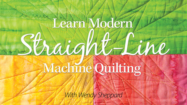 Online Classes: Learn Modern Straight-Line Machine Quilting