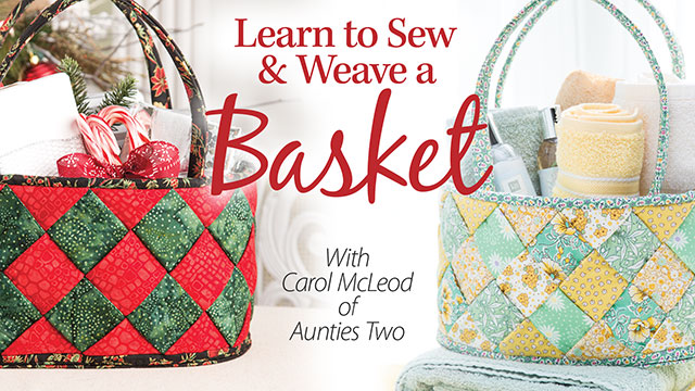 Online Classes: Learn to Sew & Weave a Basket