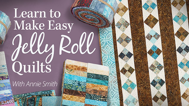 Learn to Make Easy Jelly Roll Quilts video