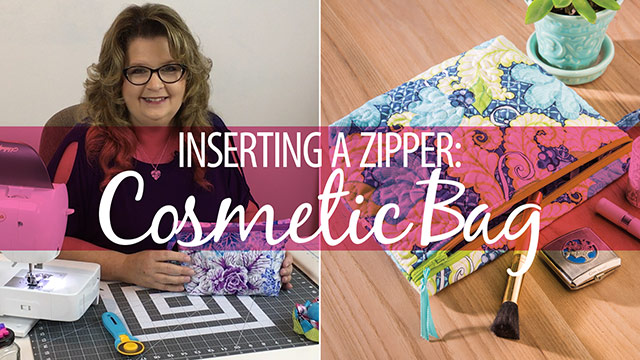 Inserting a Zipper: Cosmetic Bag video