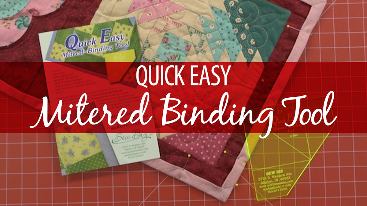 Quick Easy Mitered Binding Tool video