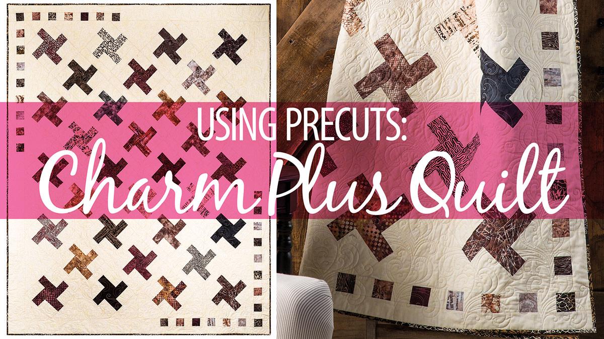 Learn, Make, Create!: Using Precuts: Charm Plus Quilt