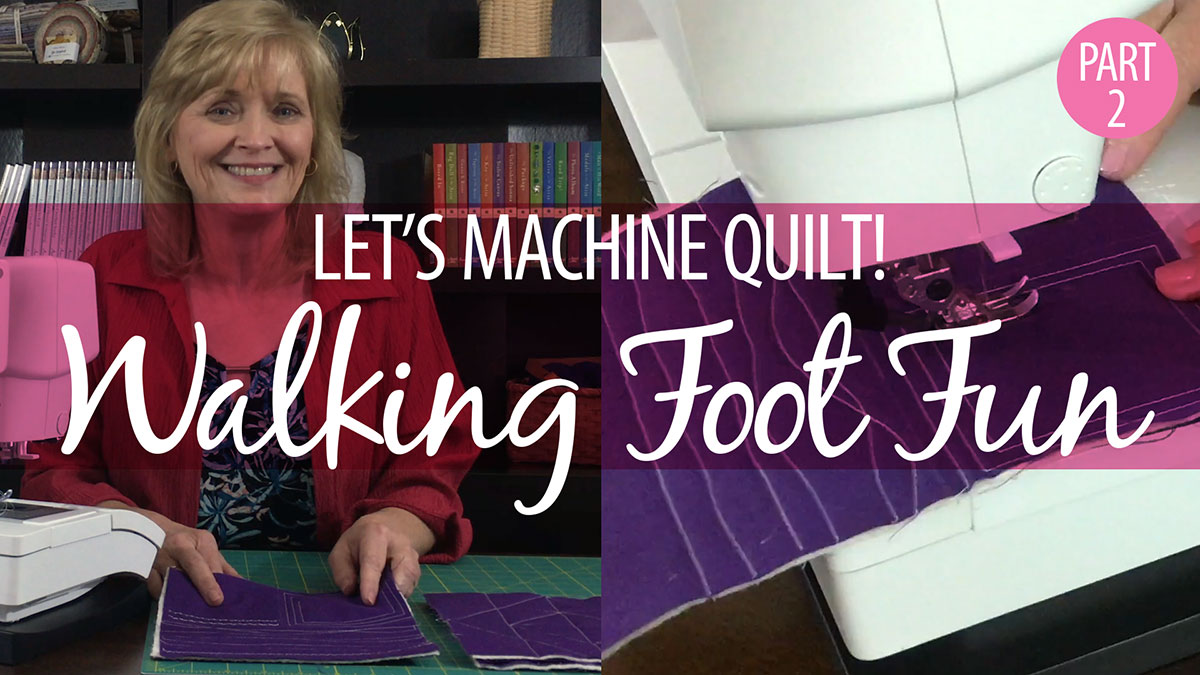 Let's Machine Quilt! Part 2: Walking Foot Fun video
