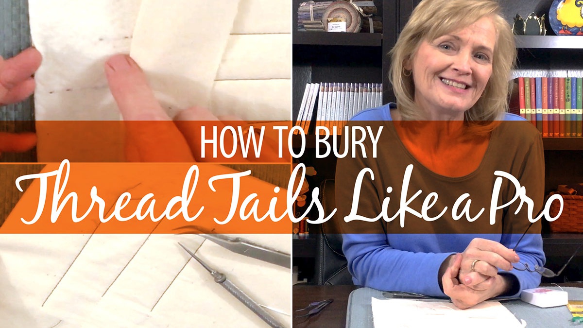 How to Bury Thread Tails Like a Pro video