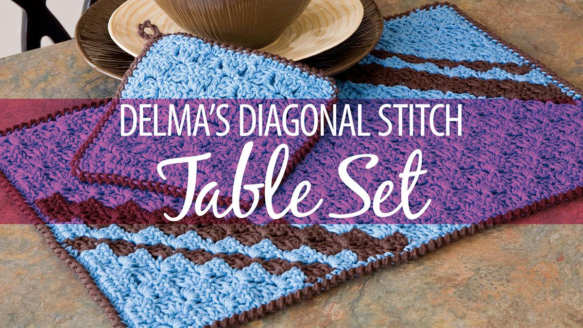 Learn, Make, Create!: Delma's Diagonal Stitch Table Set