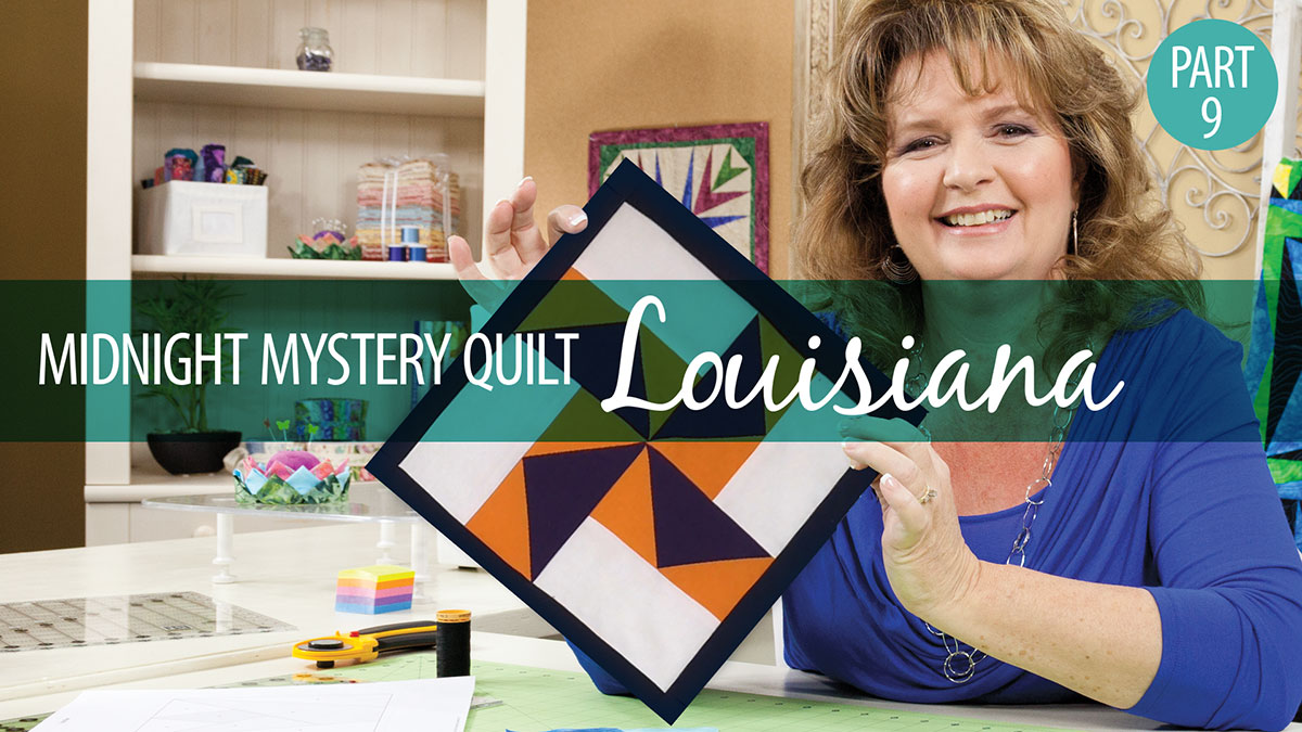 Quilter's Skill Builders: Midnight Mystery Quilt: Louisiana Block 9