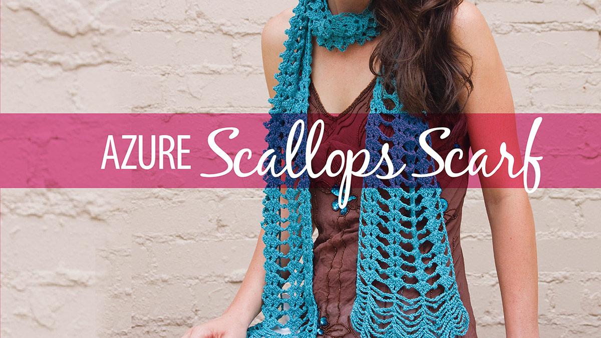 Learn, Make, Create!: Azure Scallops Scarf
