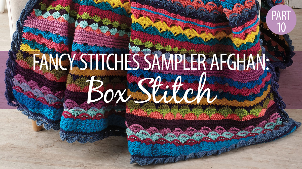 Fancy Stitches Sampler Afghan Part 10: Box Stitch video