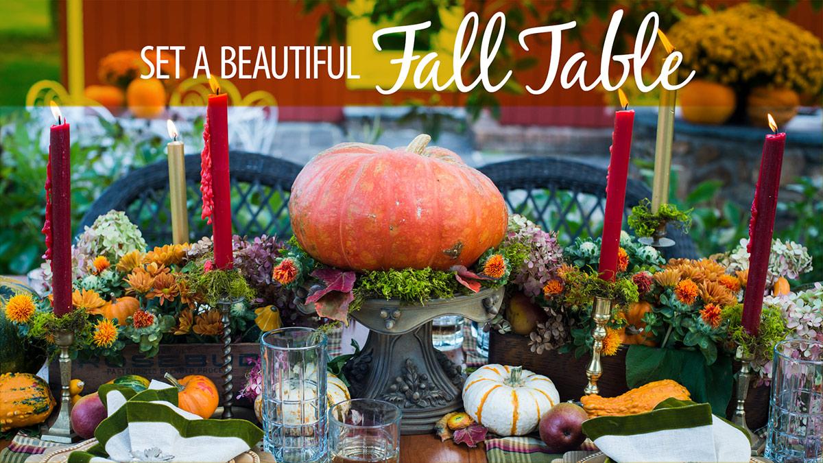 Creative Living: Set a Beautiful Fall Table