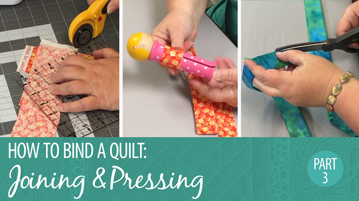 How to Bind a Quilt: Joining & Pressing Part 3 video