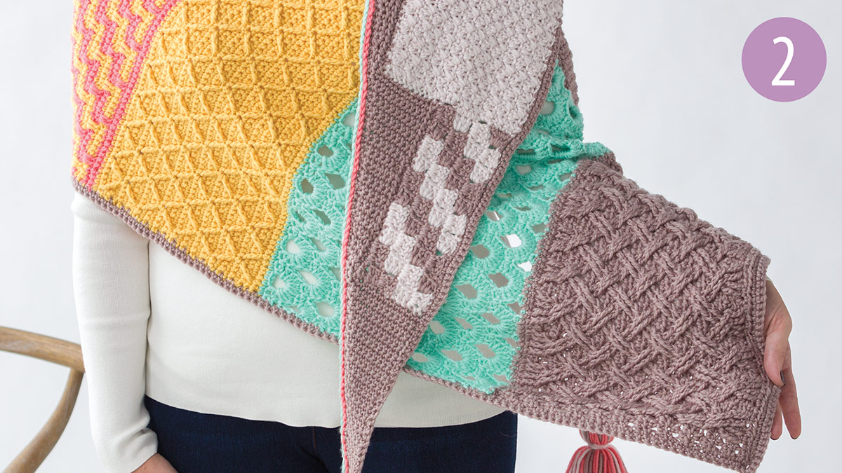 Crochet Skill Builders: Chic Shawl by Marly Bird: Thicket Stitch Part 2