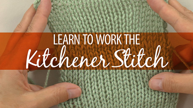 How to Work the Kitchener Stitch video