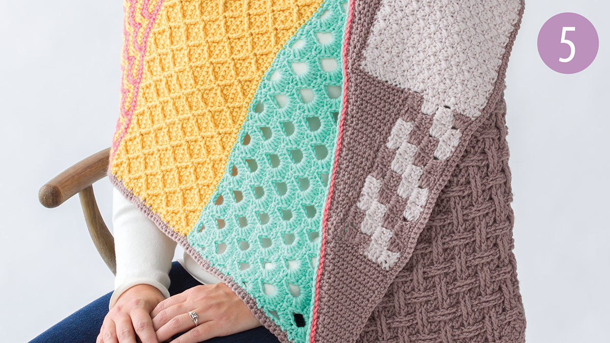 Crochet Skill Builders: Chic Shawl by Marly Bird: Stairsteps Part 5