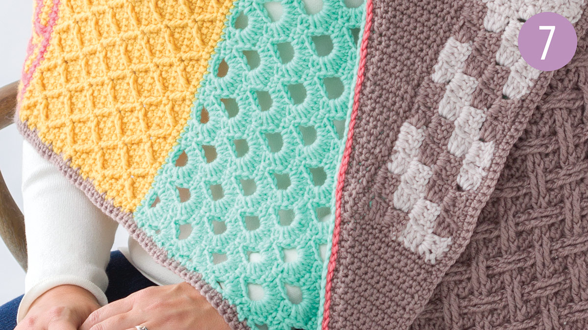Crochet Skill Builders: Chic Shawl by Marly Bird: Colonnade Part 7