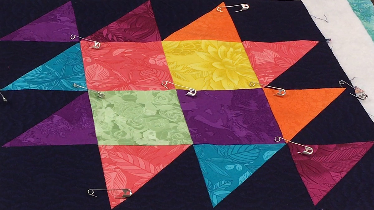 Quilt & Sew Tips: How to Pin-Baste a Quilt Sandwich