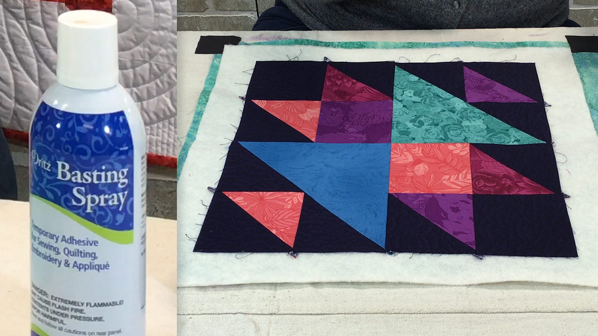 Quilt & Sew Tips: How to Spray-Baste a Quilt Sandwich