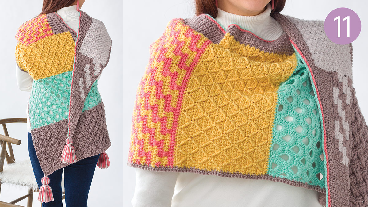 Crochet Skill Builders: Chic Shawl by Marly Bird: Styling Part 11